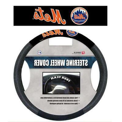new york mets steering wheel cover mesh