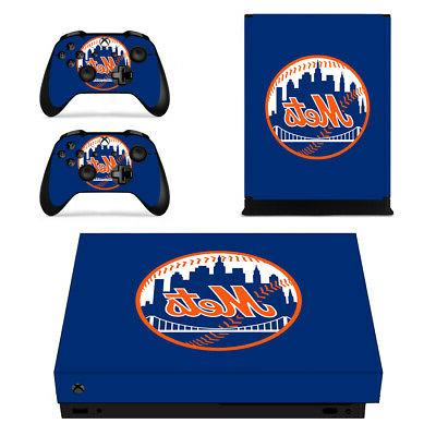 New York Mets XBOX ONE X Skin Sticker Decal Vinyl Console+ 2