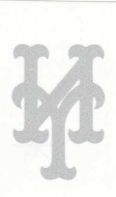 REFLECTIVE New York Mets 2 inch fire helmet decal sticker RT