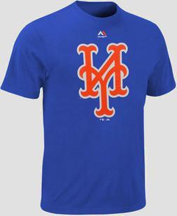 Men's Majestic Royal New York Mets Official Big Logo T-Shirt