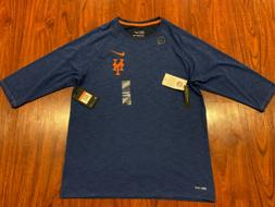 Nike Men's New York Mets 3/4 Sleeve Slub Jersey Shirt Larg