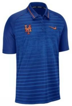 Nike Men's New York Mets Stripe Polo Jersey Shirt XL Extra