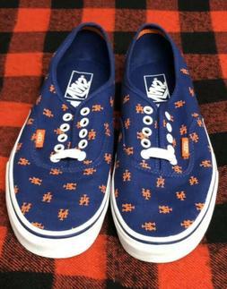 Men's Vans Sneakers Authentics MLB New York Mets Size 9 NE