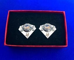 Mets Baseball Diamond Cufflinks New York Mets Cuff Links NEW