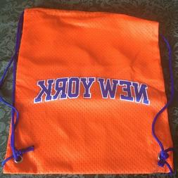 METS Drawstring Bag Backpack Baseball Sack Gym Beach Bag NWO