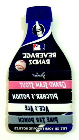 MLB Beverage Bandz pack of 5 wristbands for drink bottles Ne