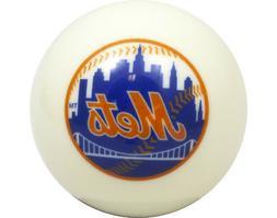 MLB Imperial New York Mets Pool Billiard Cue/8 Ball - White