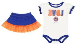 Outerstuff MLB Infants New York Mets Home Field Dress with B