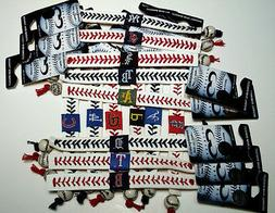 MLB Leather Baseball Seam Bracelet Wristband /Bundle Prices