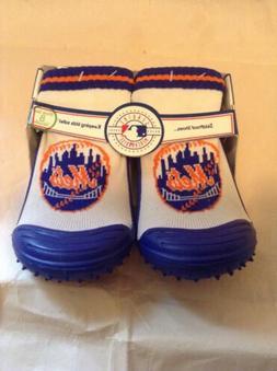 MLB Licensed New York Mets Toddler Kids Skid Proof Shoes Siz