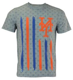 Forever Collectibles MLB Men's New York Mets Big Logo Flag T
