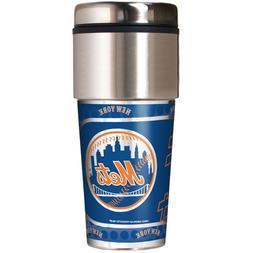 MLB New York Mets 360 Wrap Travel Tumbler Coffee Mug Cup