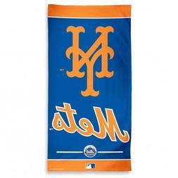 """MLB New York Mets A1878315 Fiber Beach Towel, 9 lb/30"""" x 60"""""""
