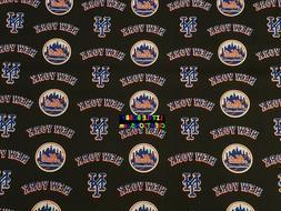 MLB NEW YORK METS Cotton Fabric - 1/4 to 1/2 YARD - OOP & RA