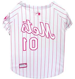 Pets First MLB New York Mets Dog Jersey, Large, Pink