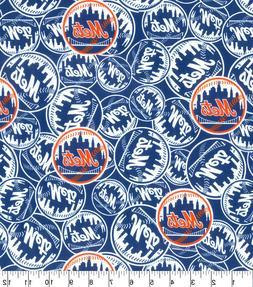 MLB New York Mets - MASCOT LOGO 100% Cotton Fabric 1/4 yd, 9