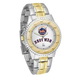 MLB New York Mets Men's Two-Tone Competitor Watch