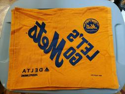 """MLB New York Mets Orange """"LETS GO METS"""" with Delta Logo Rall"""