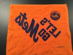 "MLB New York Mets Orange ""LETS GO METS"" Rally Towel."