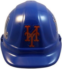 MLB NEW YORK METS OSHA Approved Hard Hat Ratchet-Pin Type Su