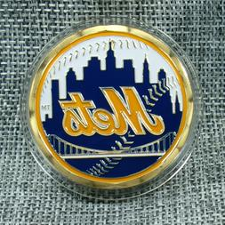MLB New York Mets Poker Chip Card Guard Challenge Coin Golf