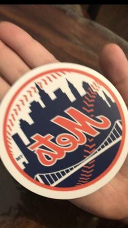MLB New York Mets Round Magnet for car,fridge,vehicle,refrig