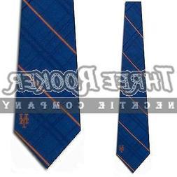 MLB New York Mets Royal Blue Oxford Woven Silk Tie