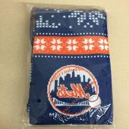 MLB New York Mets Scarf Warm Knit Winter Adult New Sealed AR