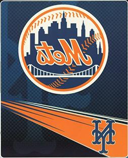 MLB New York Mets Speed Plush Raschel Throw Blanket, 60x80-I