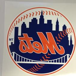 MLB New York Mets Vinyl Bumper Sticker Decal Car Truck Wall