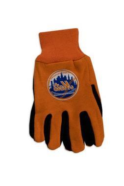 MLB New York Mets Two-Tone Gloves, Orange/Black