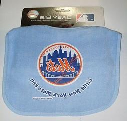MLB NWT INFANT BABY BIB - BABY BLUE - NEW YORK METS
