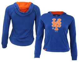 Majestic MLB Youth Girls New York Mets The Closer Pullover H