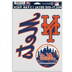 Nes York Mets Multi Use Fan 3 Pack Decal Set  MLB Sticker Em