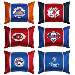 nEw 2pc MLB BASEBALL TEAM PILLOW SHAM SET - Sports Team Logo