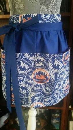 New Handmade Half Apron NY New York Mets Fabric Waitress Ser