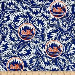 New York Mets Fabric by the Yard or Half Yard, MLB Fabric, C