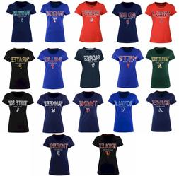 New MLB G-III Sports Women's Round the Bases Foil T-Shirt