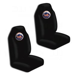 New MLB New York Mets Car Truck 2 Front Seat Covers Set - Of