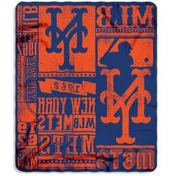 "New MLB New York Mets Large Soft Fleece Throw Blanket 50"" X"