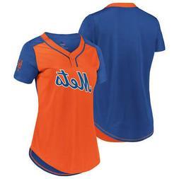 New MLB New York Mets Majestic Women's Cool Base T-Shirt –