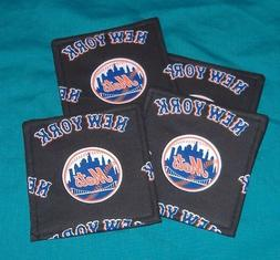 NEW  NEW YORK METS BASEBALL TEAM    PARTY DRINK    SET OF 4