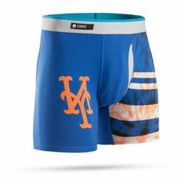 NEW Stance New York Mets Mens Basilone Boxers Underwear L Ro