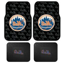 New Set MLB New York Mets Car Truck Front / Back All Weather