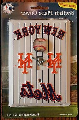 New White New York Mets Baseball MLB Licensed Light Switch P