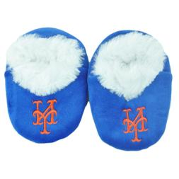 New York Mets Infant Baby Fur Lined Slippers Warm Booties 0-