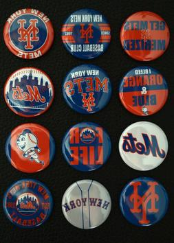 "New York Mets  - 1 1/2"" Inch Magnet Set  -"