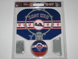 "New York Mets 12"" X 9"" Basketball Softee Hoop Set With 4"" So"