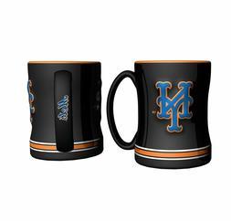 New York Mets 14oz Sculpted Relief Coffee Mug