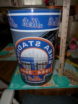 "New York Mets 15"" Waste Basket Trash Can Shea Stadium 1964-2"